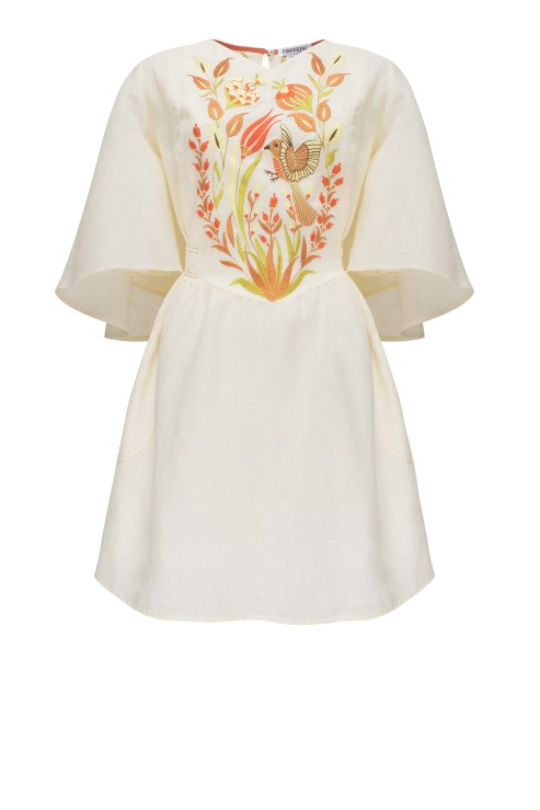 """Quezal"" beige mini dress photo"