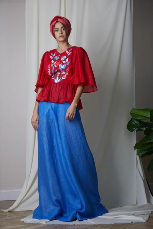 """""""Quezal"""" red blouse photo"""