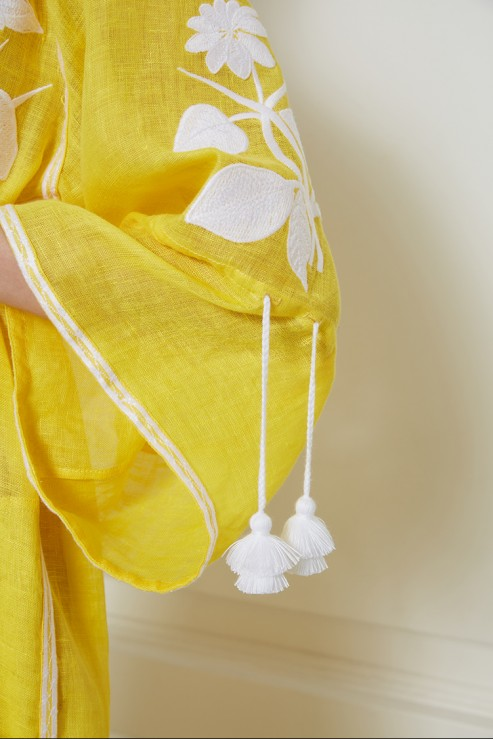 """Eden"" yellow maxi dress photo"