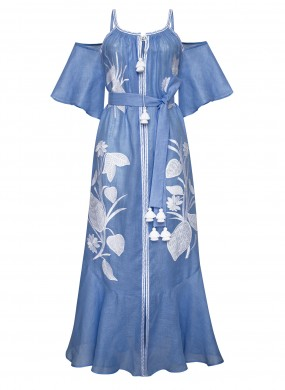 """""""Eden"""" blue maxi sundress"""