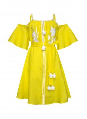 """""""Едем"""" жовта міні сукня"""
