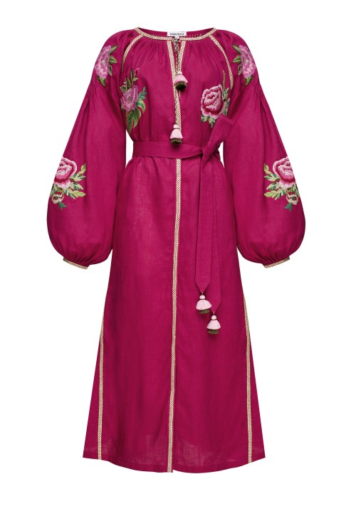 """Flora"" burgundy dress photo"