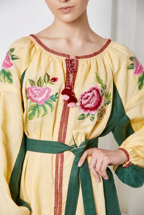 """Flora"" beige dress photo"
