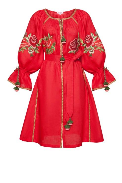 """""""Flora"""" red mini dress photo"""
