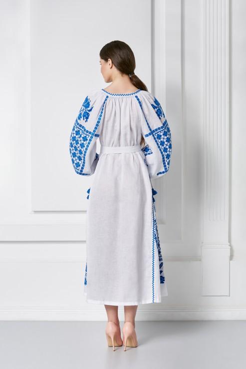 """""""Gold"""" white midi dress photo"""
