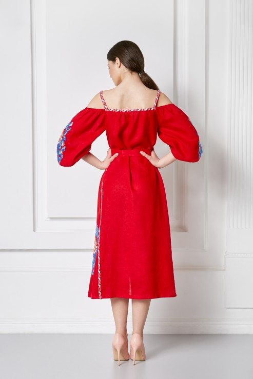 """Сlaire chic"" red sundress photo"