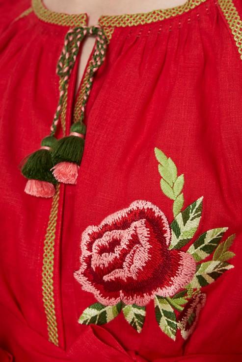 """Flora"" red dress photo"