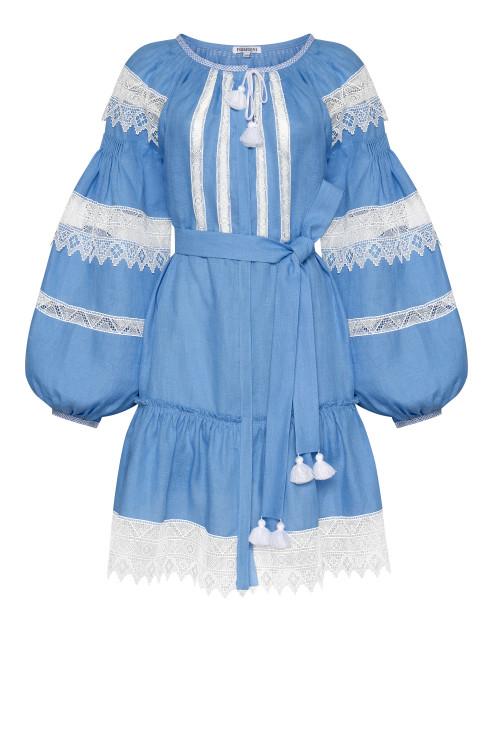 """Rebecca"" blue mini-dress photo"